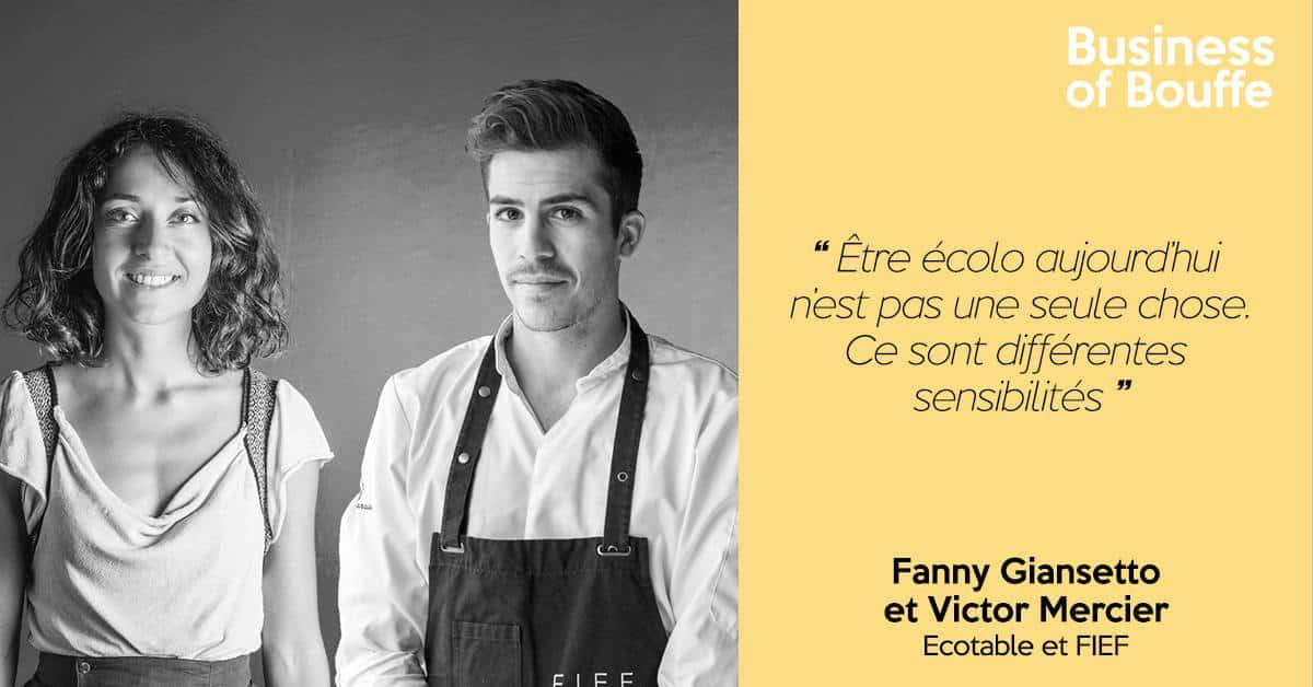 Fanny Giansetto et Victor Mercier