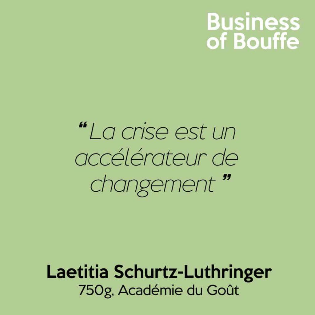 Laetitia Schurtz 750g Academie du Goût
