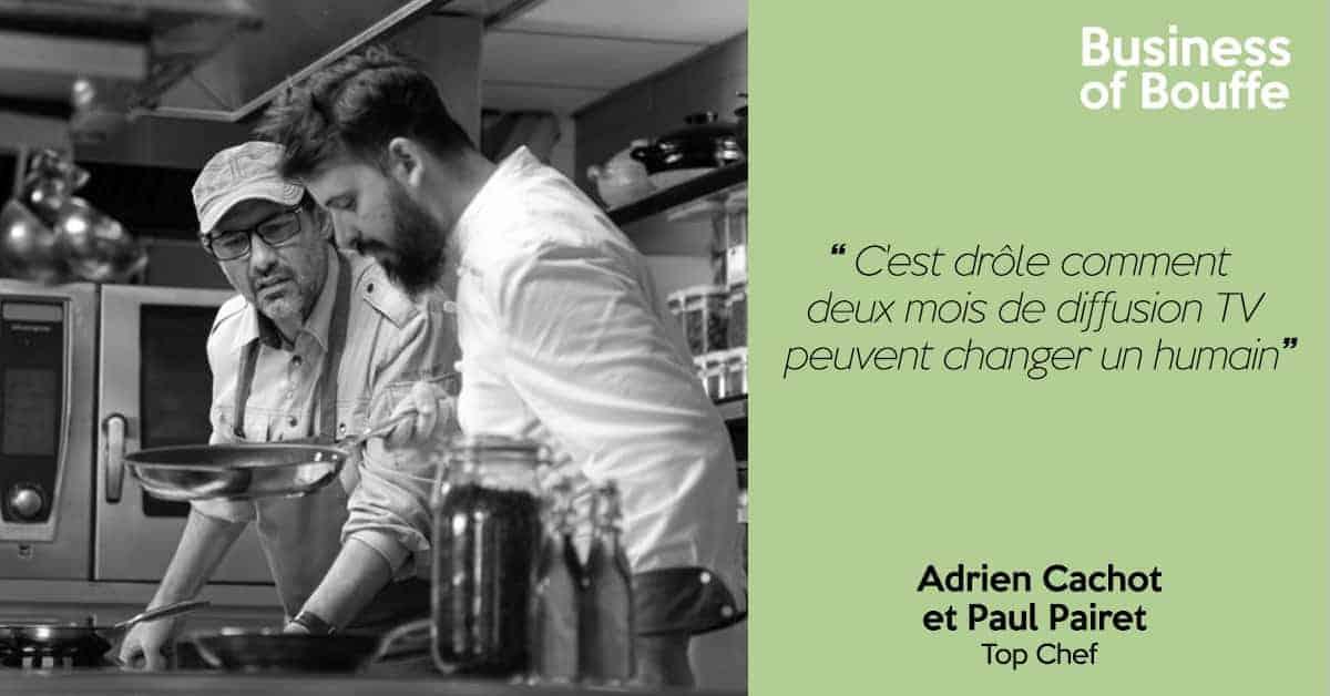 Paul Pairet et Adrien Cachot