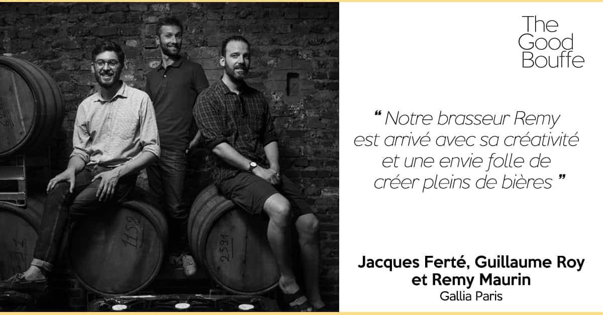 Guillaume Roy, Jacques Ferté et Remy Maurin