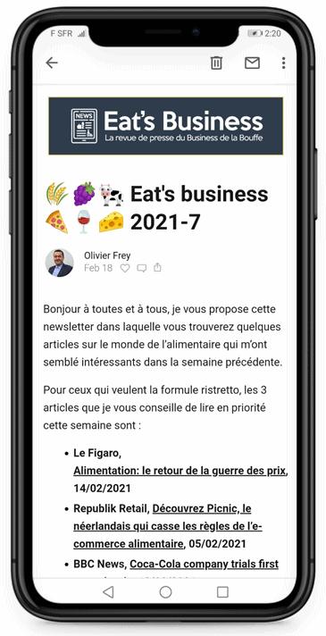 eat's business newsletter revue de presse