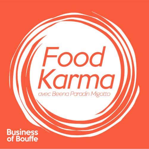 logo podcast food karma beena migotto
